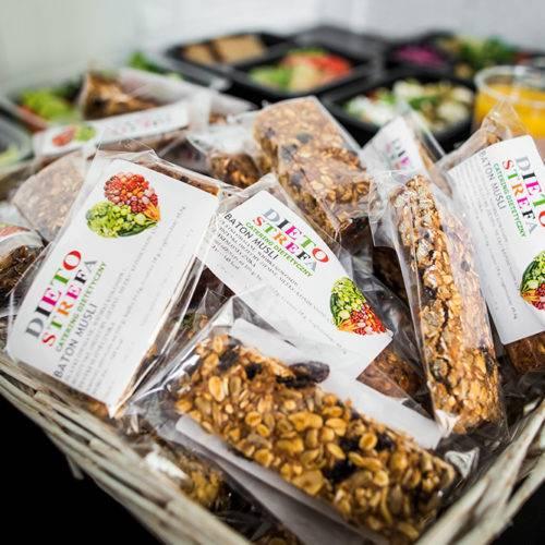 Zdrowe słodycze na wynos Dietostrefa Catering Dietetyczny Dieta pudełkowa z dostawą