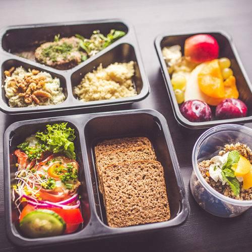 Przykładowy zestaw Dietostrefa Catering Dietetyczny Dieta pudełkowa z dostawą